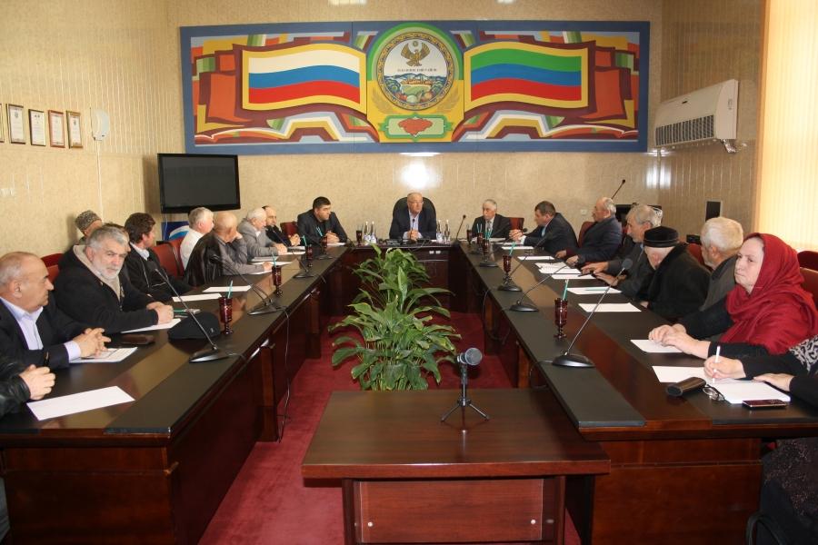 Состоялось заседание Совета старейшин Левашинского района