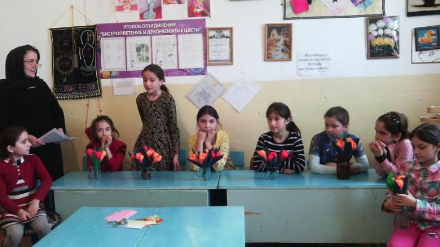 В доме детского творчества прошло внеклассное мероприятие, посвященное Международному женскому дню 8 марта