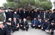 В Каспийске провели торжественную закладку камня памятника воинам-интернационалистам