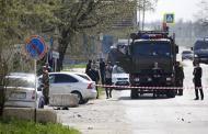 Появилось первое видео с места атаки террористов на ОВД в Ставропольском крае