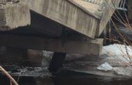 В Хивском районе Дагестана рухнул автомобильный мост