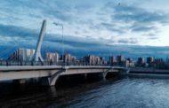 На мосту имени Кадырова вывесили баннер с призывом убивать русских
