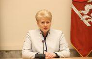 Президент Литвы проигнорировала российских журналистов (видео)