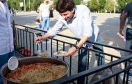Празднование Ураза-байрам устроили на городской площади в Каспийске