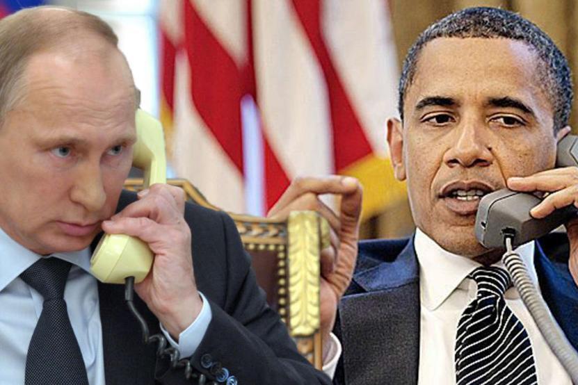 Путин и Обама обсудили по телефону урегулирование в Карабахе, Сирии и Донбассе