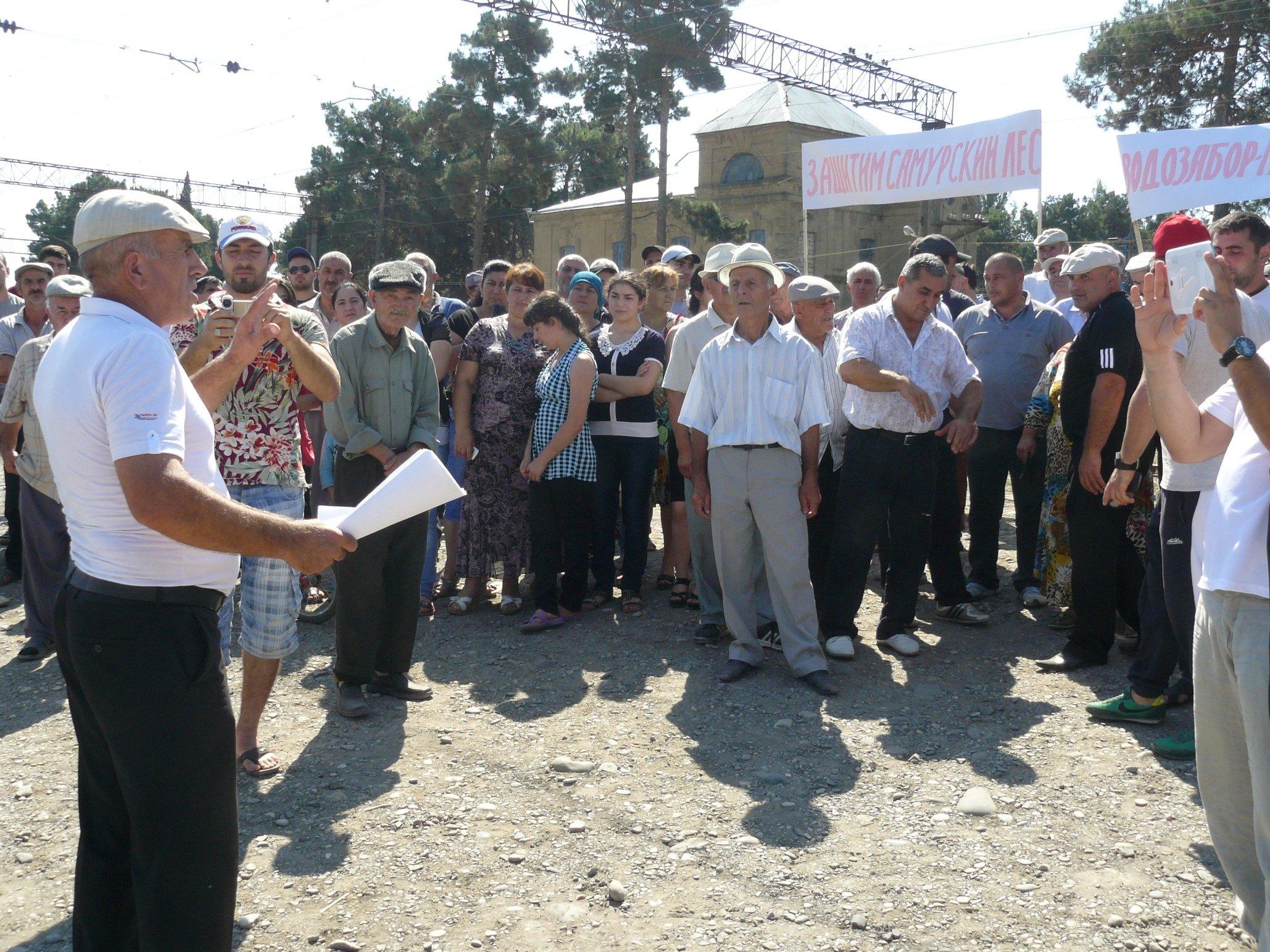 Строительство водозабора в Самурском лесу продолжено. Самурцы намерены в ответ бойкотировать выборы