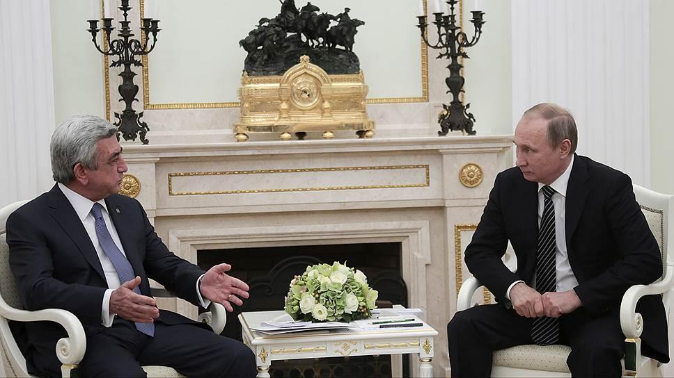 В Москве прошли переговоры Владимира Путина и Сержа Саргсяна