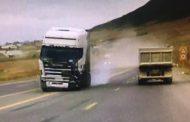 Массовое ДТП в Агачауле попало на видео