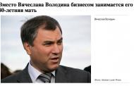 Навальный: Маме Вячеслава Володина 80 лет и она успешный бизнесмен