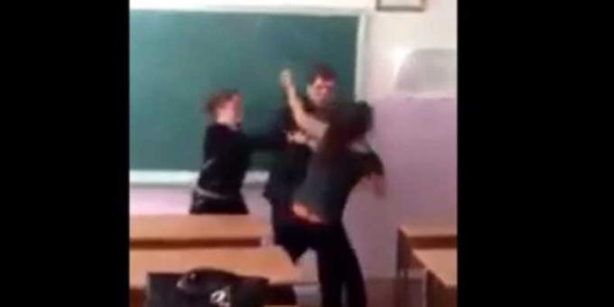 Драка девочек в дагестанской школе | Видео | 18+