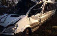 Микроавтобус перевернулся в Тарумовском районе Дагестана, есть пострадавшие - МЧС