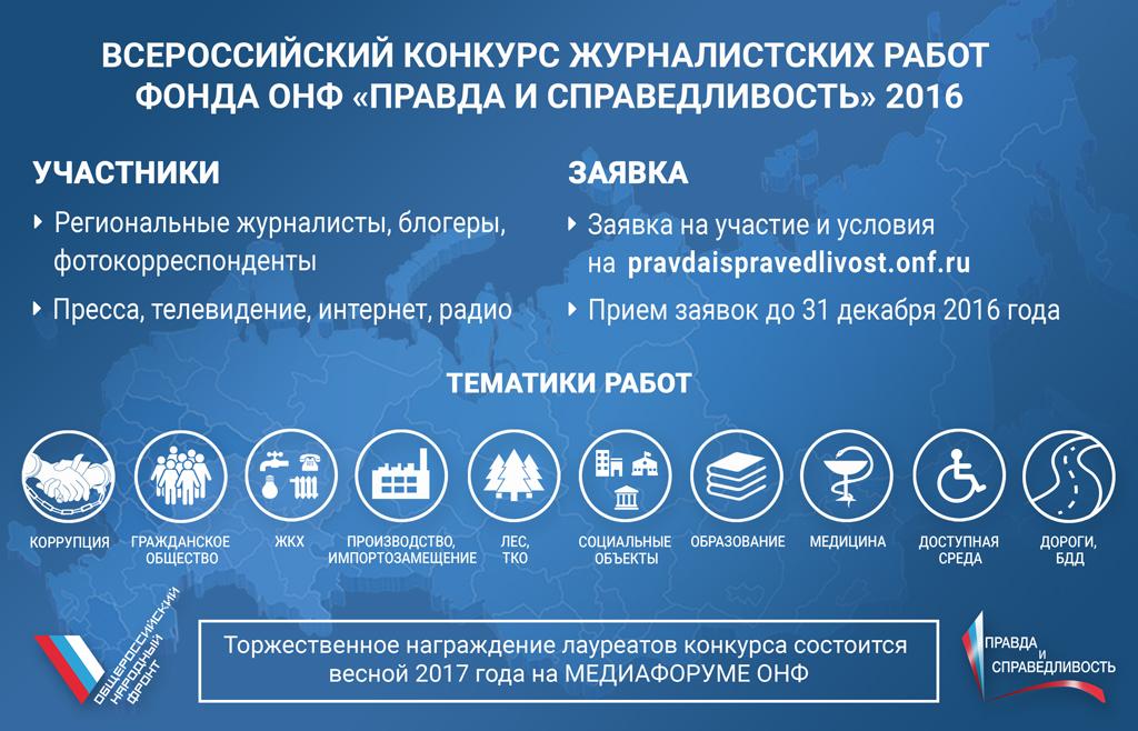 До завершения заявочной кампании Всероссийского конкурса журналистских работ Фонда ОНФ «Правда и справедливость» осталось восемь дней