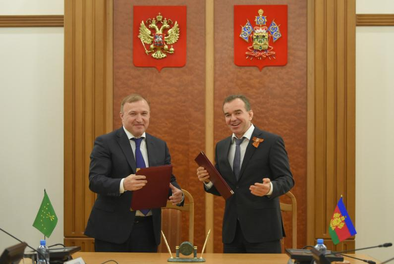 Республика Адыгея и Краснодарский край подписали Соглашение о сотрудничестве